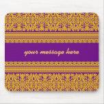 Diseño indio de la sari - Mousepad púrpura Alfombrilla De Raton