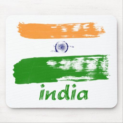 Diseño indio del movimiento del cepillo de la band alfombrilla de raton