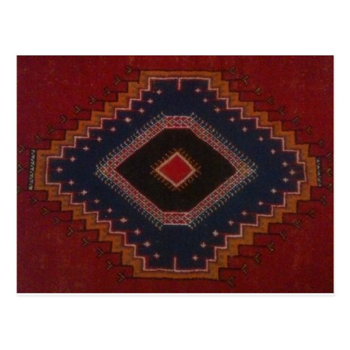 diseño indio marrón tarjeta postal