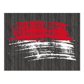 Diseño indonesio fresco de la bandera tarjeta postal