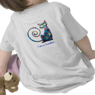 Diseño infantil de la camisa del gato del edredón