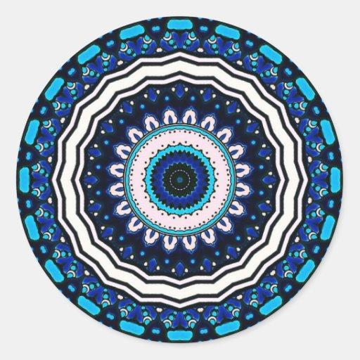Diseño influenciado marroquí de la teja del pegatina redonda