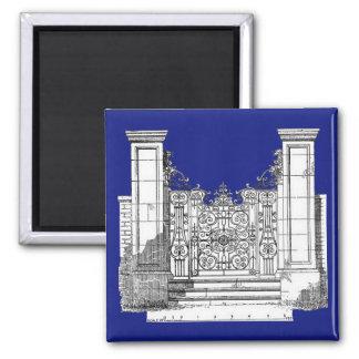Diseño inglés de la puerta de la casa de campo por imán cuadrado