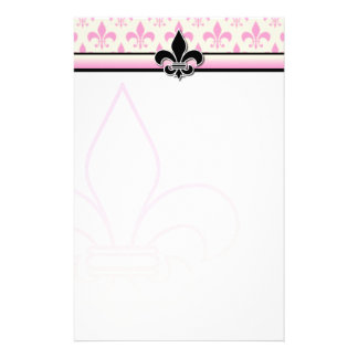 Diseño inmóvil de la flor de lis papeleria personalizada