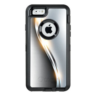 Diseño inoxidable de la onda funda OtterBox defender para iPhone 6