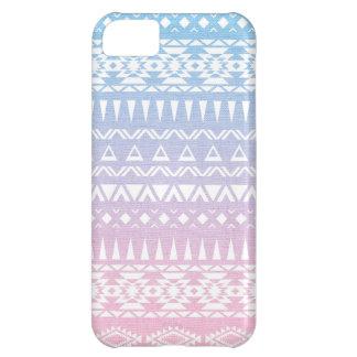 Diseño inspirado Azteca tribal en colores pastel Funda Para iPhone 5C