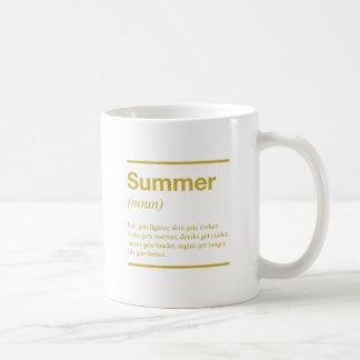 Diseño inspirado de la tipografía del verano taza clásica