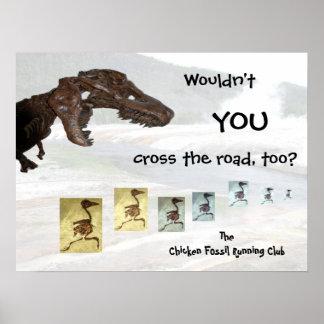 Diseño inspirado del club corriente fósil del poll póster