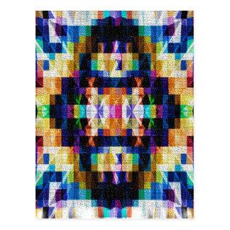 Diseño inspirado - diamantes 9 del arco iris tarjetas postales