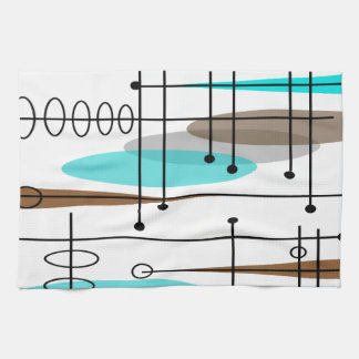 Diseño inspirado era atómica 13 de los mediados de toalla de mano