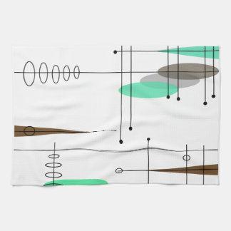 Diseño inspirado era atómica 14 de los mediados de toalla de mano