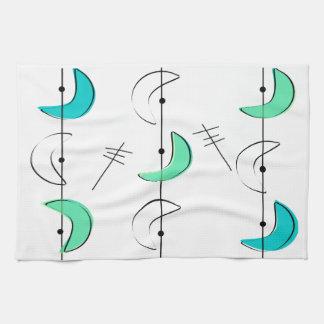 Diseño inspirado era atómica 16 de los mediados de toallas de mano