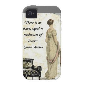 Diseño inspirado regencia de Jane Austen iPhone 4 Carcasa