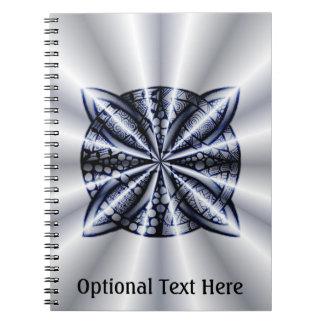 Diseño inspirado Zentangle azul del nudo céltico Cuadernos