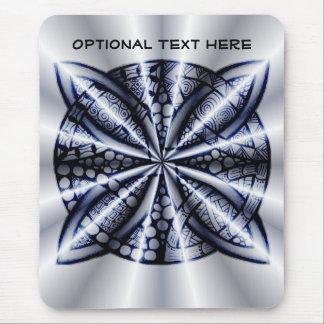 Diseño inspirado Zentangle azul del nudo céltico Alfombrillas De Ratón