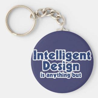 Diseño inteligente llavero redondo tipo pin