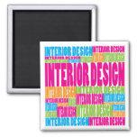 Diseño interior colorido imán de frigorifico