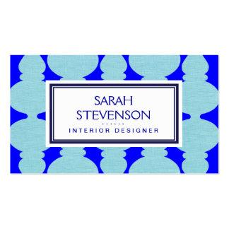 Diseño interior de los azules marinos, del cobalto tarjetas de visita