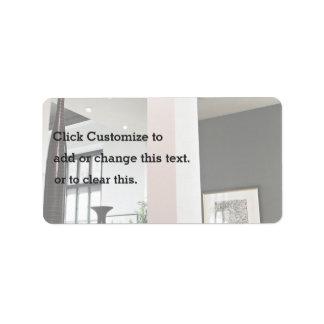 diseño interior del desván moderno etiqueta de dirección