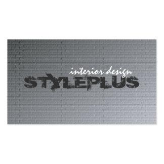 Diseño interior - tarjetas de visita