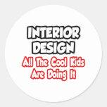 Diseño interior… todos los niños frescos etiqueta redonda