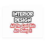 Diseño interior… todos los niños frescos tarjetas postales