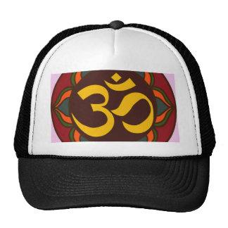 ¡Diseño interno de la paz del símbolo retro de OM! Gorras De Camionero
