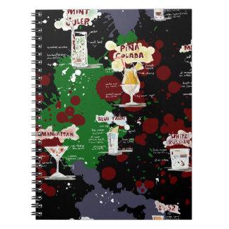 Diseño intrépido de la receta de la bebida del libro de apuntes