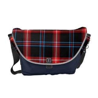 Diseño intrépido del modelo de la tela escocesa de bolsa messenger