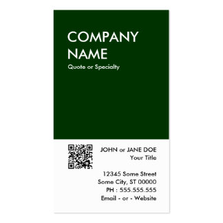 diseño intrépido verde su propio código de QR Tarjetas De Visita