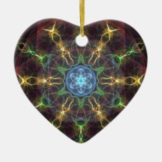 Diseño inventivo adorno navideño de cerámica en forma de corazón