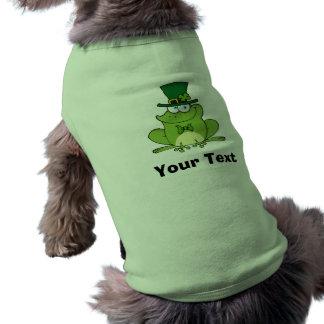 Diseño irlandés de la rana playera sin mangas para perro