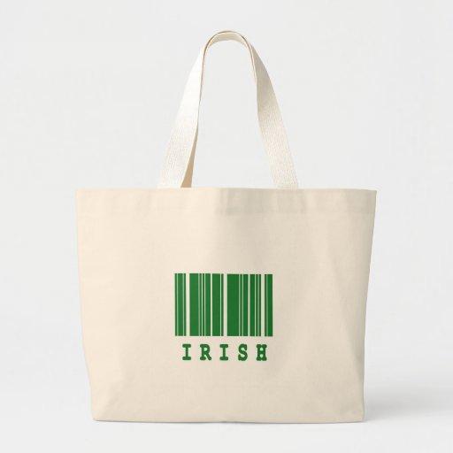 diseño irlandés del código de barras bolsa