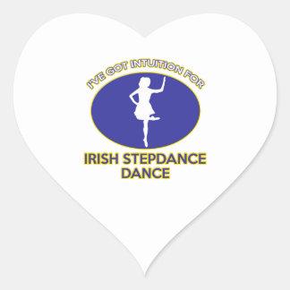 diseño irlandés del stepdance pegatina en forma de corazón