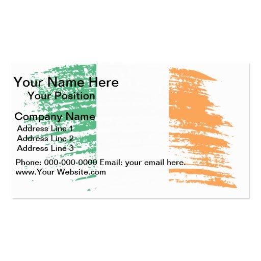 Diseño irlandés fresco de la bandera plantillas de tarjetas personales