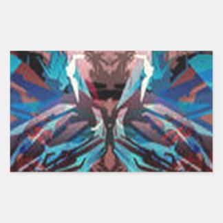 Diseño irresistible del monstruo pegatina rectangular