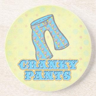 Diseño irritable divertido de los pantalones posavaso para bebida
