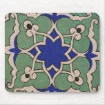 Diseño islámico antiguo de la teja tapetes de raton