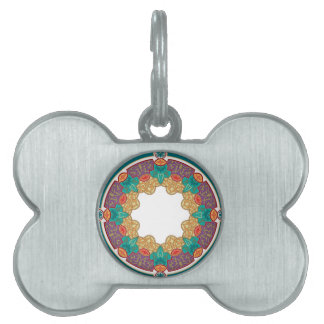Diseño islámico del modelo del vintage placa de mascota