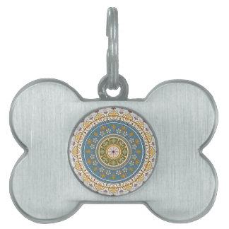 Diseño islámico del modelo del vintage placa de nombre de mascota
