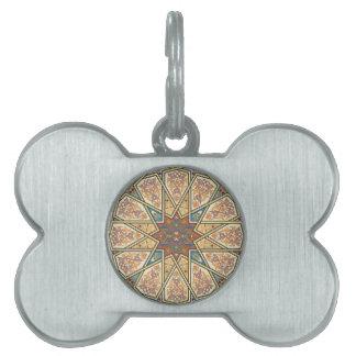 Diseño islámico del modelo del vintage placas mascota