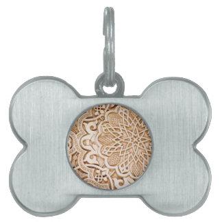 Diseño islámico del modelo del vintage placas de mascota