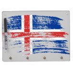 Diseño islandés fresco de la bandera pizarras