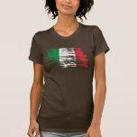 Diseño italiano fresco de la bandera camiseta