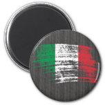 Diseño italiano fresco de la bandera iman de nevera