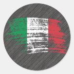 Diseño italiano fresco de la bandera etiqueta redonda