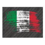 Diseño italiano fresco de la bandera postales