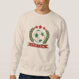 Diseño italiano retro del fútbol sudadera