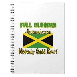 Diseño jamaicano del ciudadano libro de apuntes