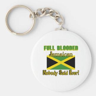 Diseño jamaicano del ciudadano llavero redondo tipo pin